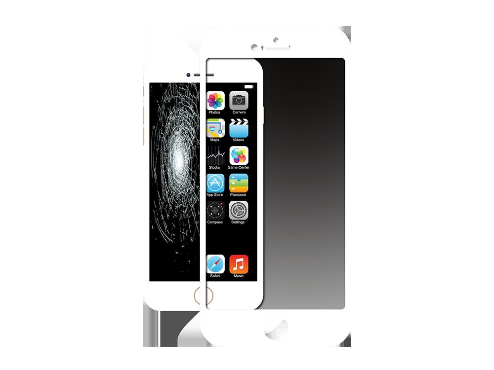 Justech Corning iPhone 7/8 3D Cam Ekran Koruyucu Beyaz