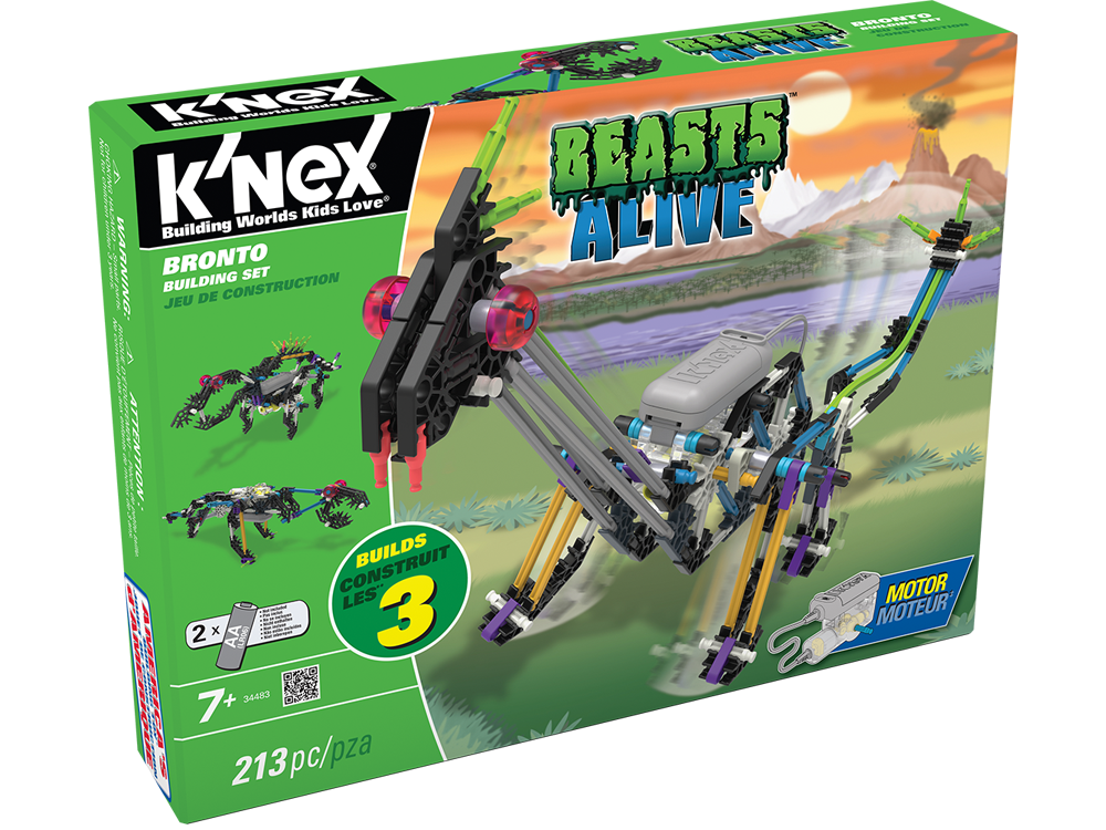 K'NEX Beasts Alive Bronto Dinozor Oyun Seti (Motorlu) 34483