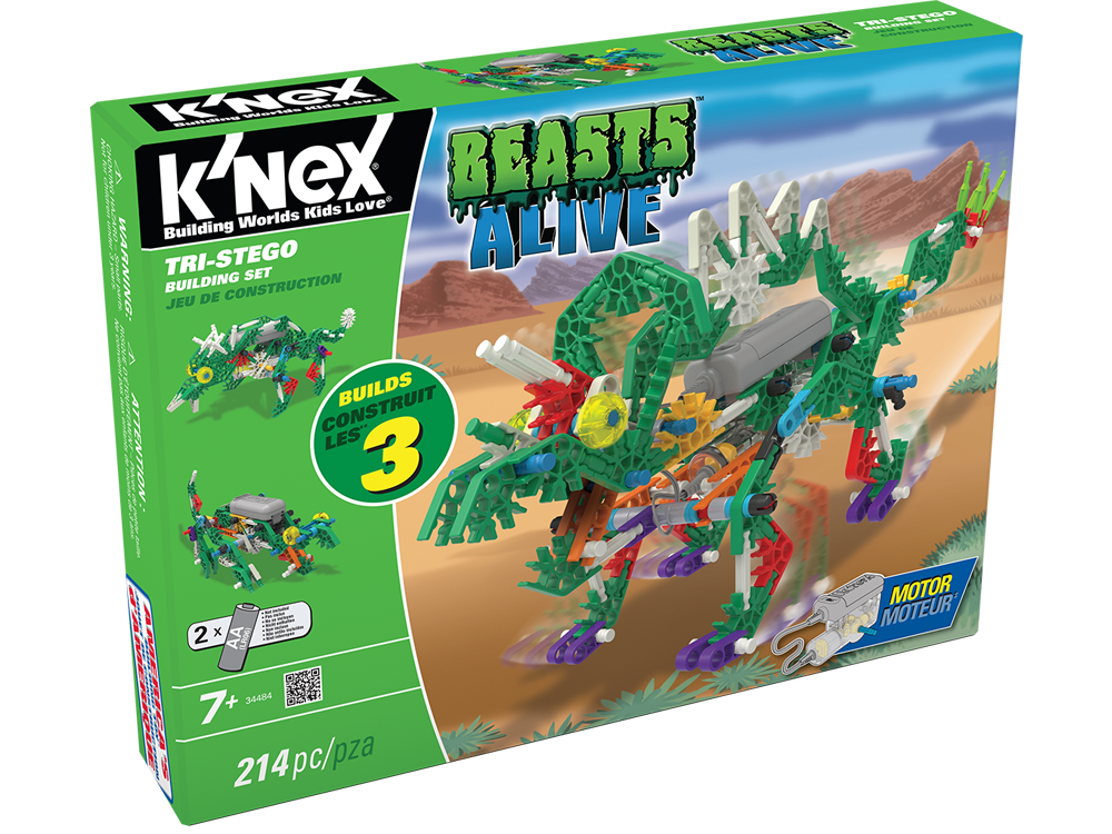 K'NEX Beasts Alive Tri-Stego Dinozor Oyun Seti (Motorlu) 34484