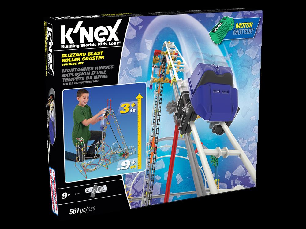 K'NEX Blizzard Blast Roller Coaster Set (Motorlu) 54401