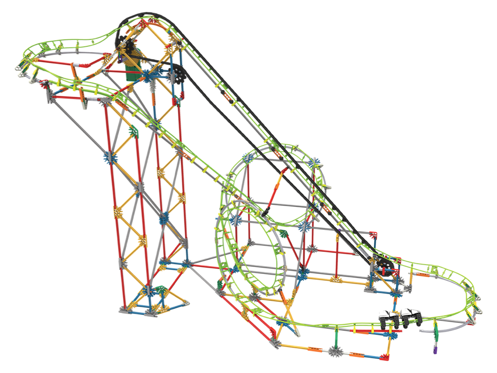 K'NEX Double Doom Roller Coaster Set (Motorlu) 55402