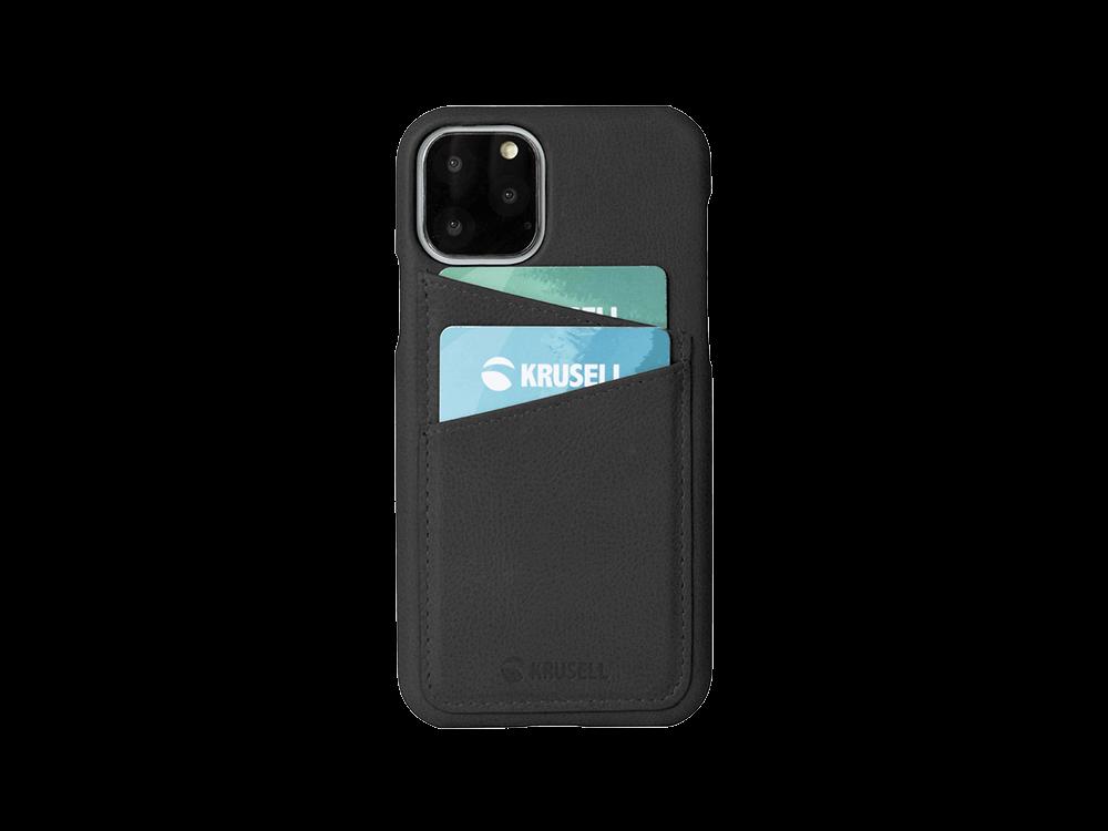Krusell iPhone 11 Pro Max Kart Bölmeli Deri Kılıf