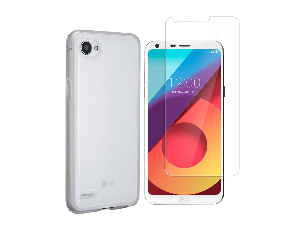 LG Q6 Kılıf&Cam Ekran Koruyucu Seti