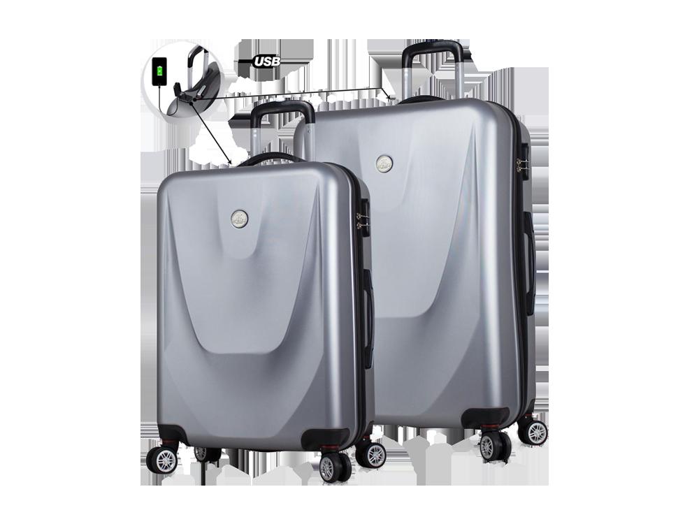 My Valice Smart Bag Energy USB Şarj Girişli 2'li Valiz Seti (Büyük ve Orta)