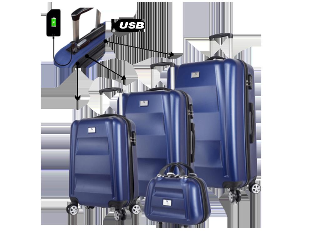My Valice Smart Bag Energy USB Şarj Girişli 4'lü Valiz Seti (Travel Set)