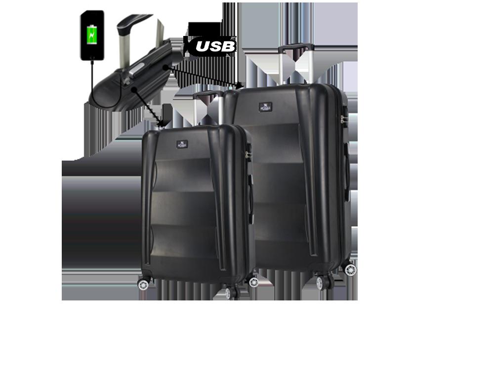 My Valice Smart Bag Exclusive USB Şarj Girişli 2'li Valiz Seti (Büyük ve Orta)
