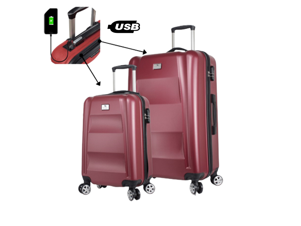 My Valice Smart Bag Exclusive Usb Şarj Girişli 2'li Valiz Seti (Kabin ve Büyük)