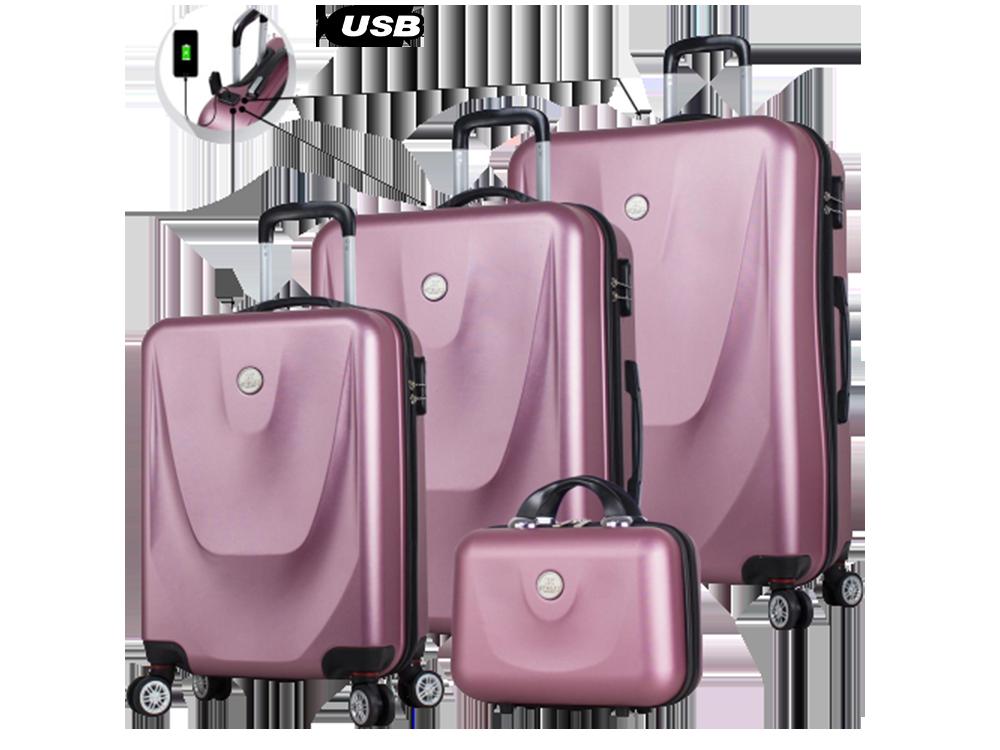 My Valice Smart Bag Exclusive USB Şarj Girişli 4'lü Valiz Seti (Travel Set)