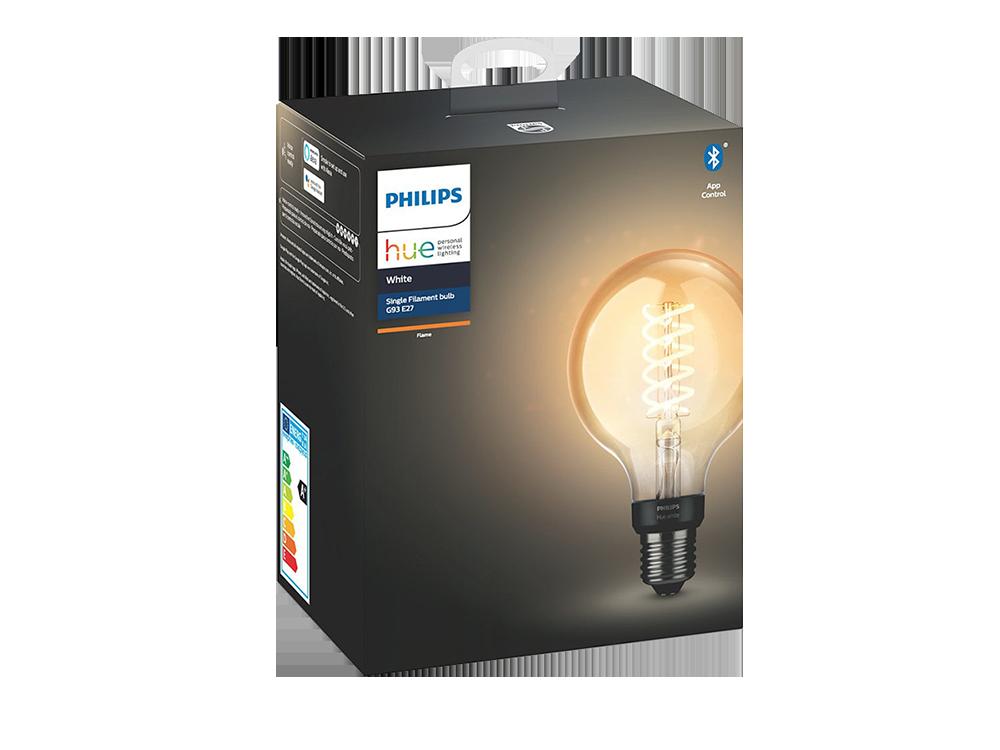 Philips Hue Filament G93 E27 Duylu Bluetooth Özellikli Sarı Işıklı Ampul