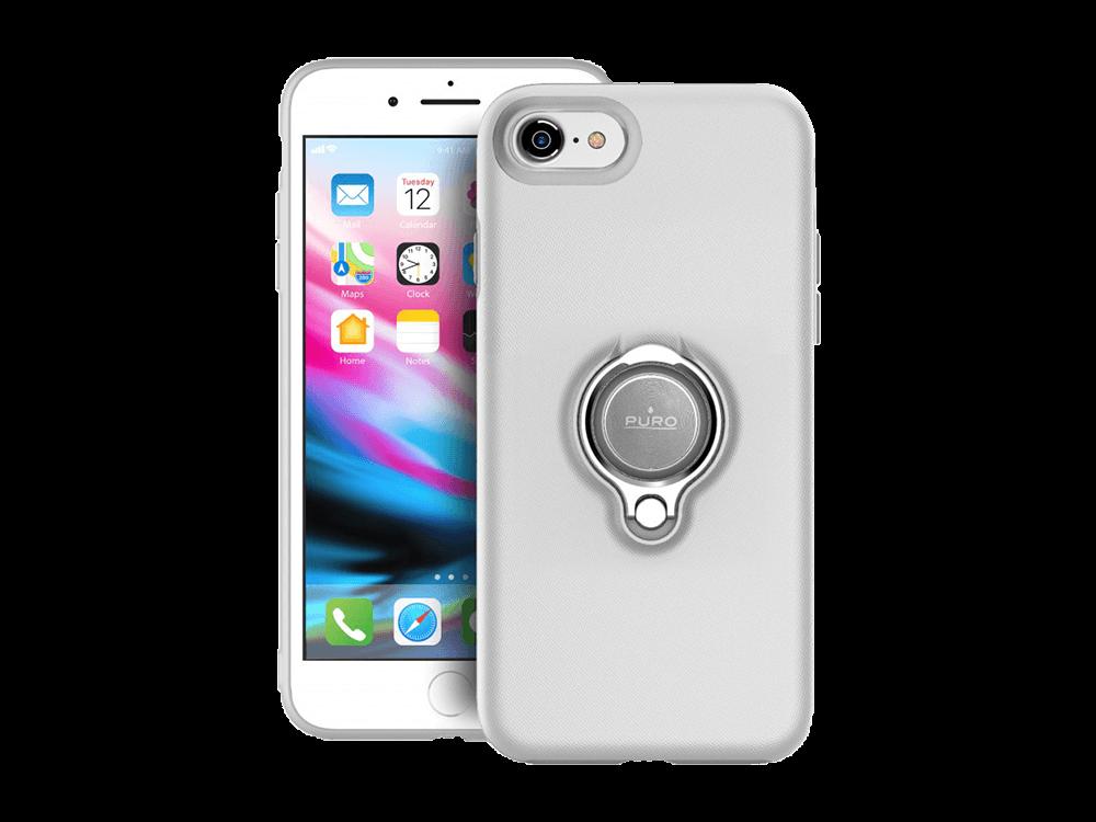 Puro iPhone 7/8 Manyetik Halkalı Koruyucu Kılıf