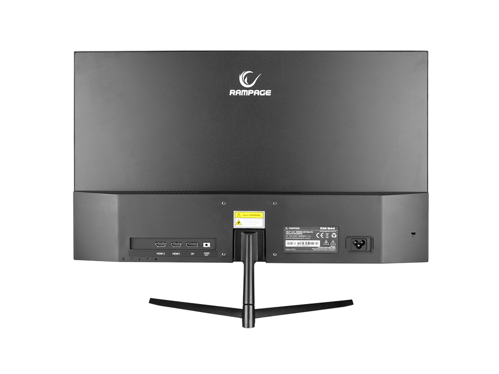 Rampage RM-344 23,8 inç LED 144 Hz 2 HDMI+DP IPS Panel Flat PC Oyuncu Monitörü