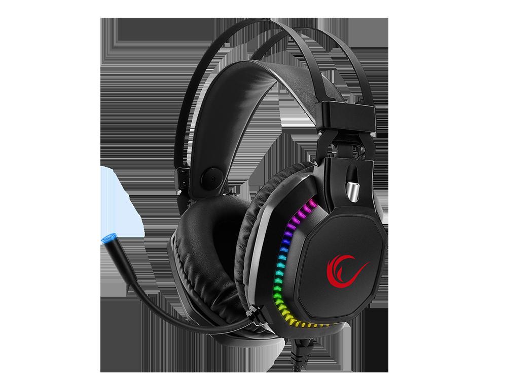 Rampage RM-K48 X-CORAL Siyah USB 7.1 Surround RGB Işık Efektli Gaming Oyuncu Mikrofonlu Kulaklık