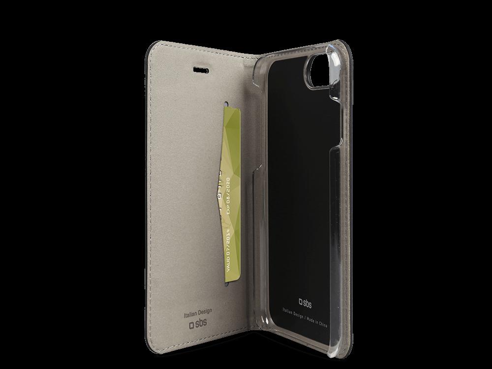 SBS iPhone 7 Gold Serisi Kapaklı Kılıf
