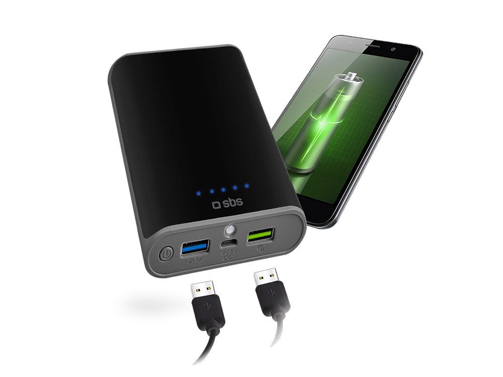 SBS Qualcomm Taşınabilir Şarj Cihazı 10400 mAh