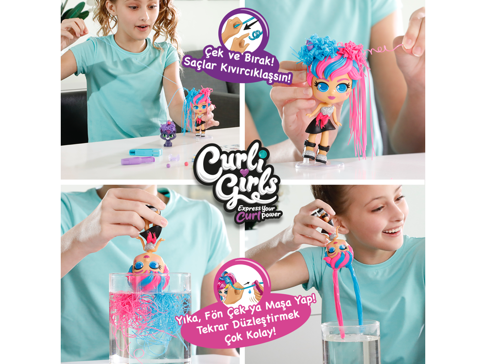 Silverlit Curli Girls Bebek - Hayli 82082-3