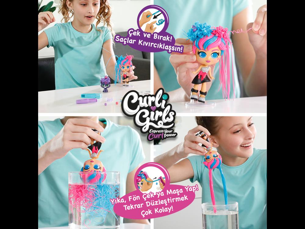 Silverlit Curli Girls Bebek ve Hayvan 3'lü Set 82080