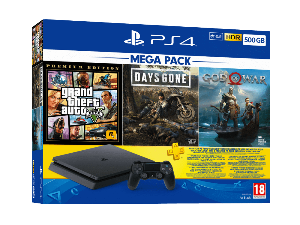 PlayStation 4 500 GB Mega Paket
