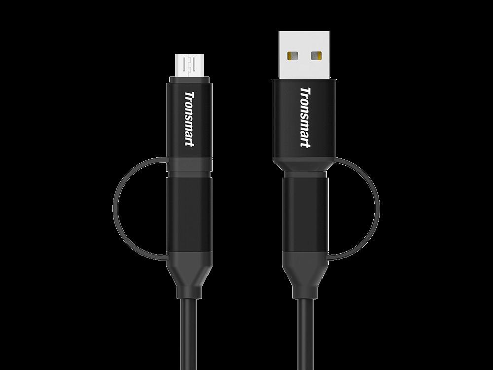 Tronsmart C4N1 Type-C Micro USB Şarj ve Data Kablosu