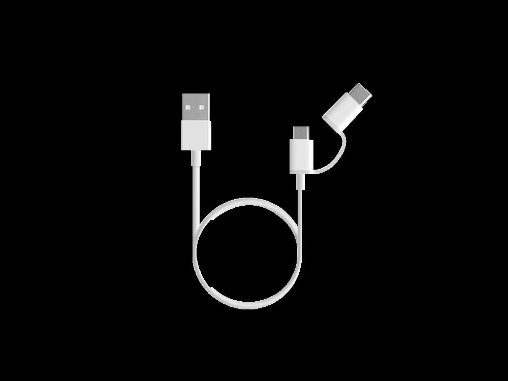 Xiaomi 2 in 1 Type-C ve Micro USB Şarj ve Data Kablosu 1 Metre