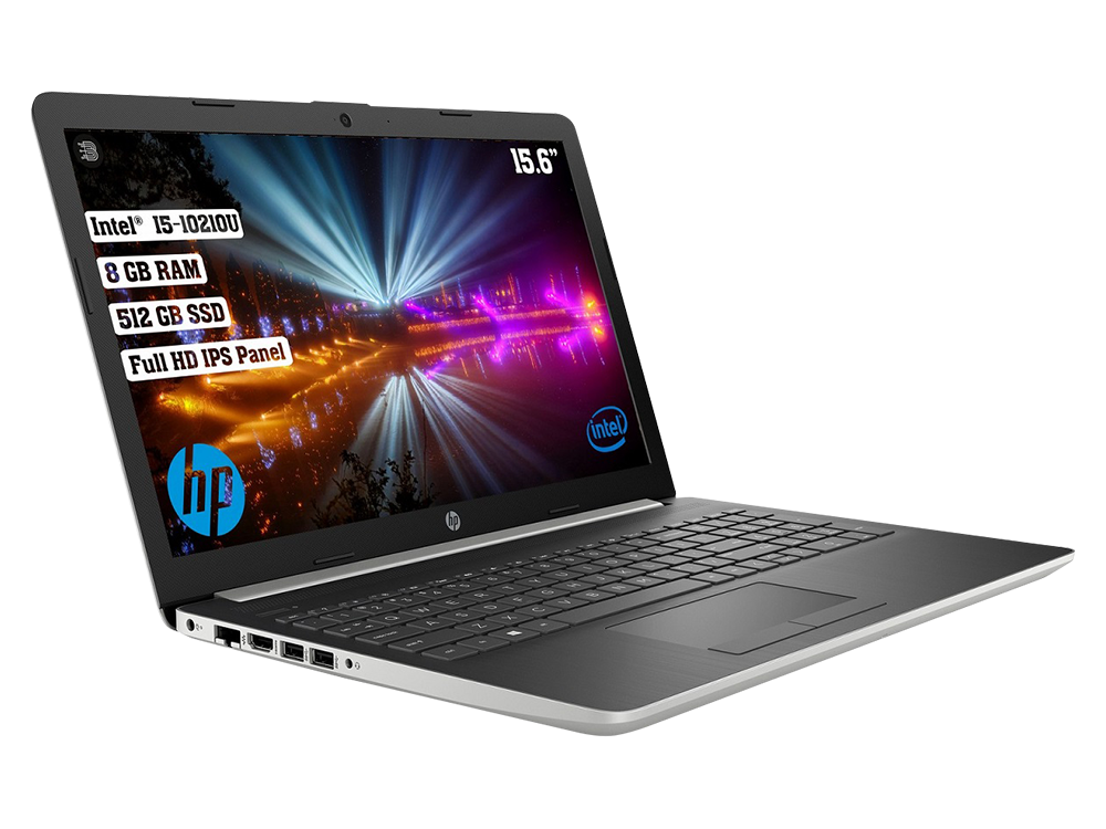 HP 15-DA2080NT 1S7Y1EA Intel Core i5 10210U 8GB 512GB SSD FreeDOS 15.6 FHD
