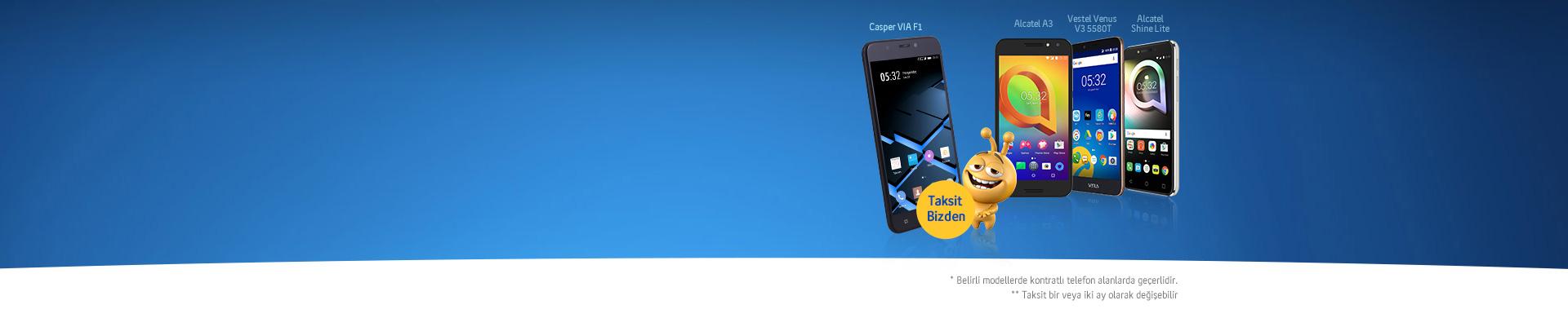 Yeni Müşterilerimizin Akıllı Telefonlarının İlk Taksitleri Bizden