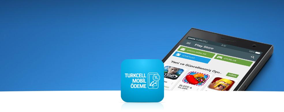 Google Play'de Mobil Ödeme Devri Turkcell Mobil Ödeme ile alışverişlerinizde günlük 100MB hediye!