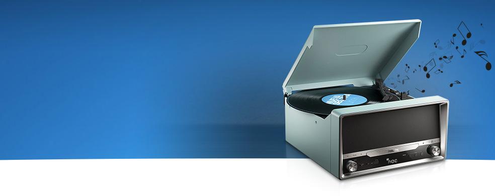 Nostalji Teknolojiyle Buluştu - Philips OTT2000 klasik pikap müzik seti şimdi Turkcell'de!