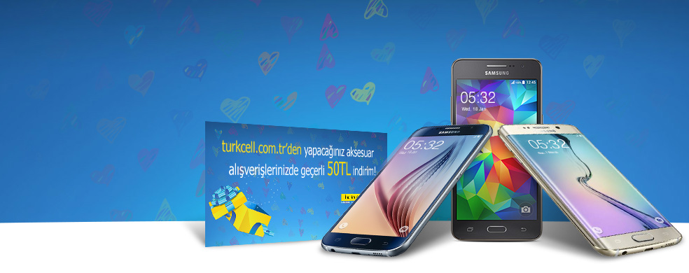 Sevgililer Günü'ne Özel Hediye Çeki - Kontratlı Samsung marka akıllı telefon alan herkese 50 TL hediye çeki!
