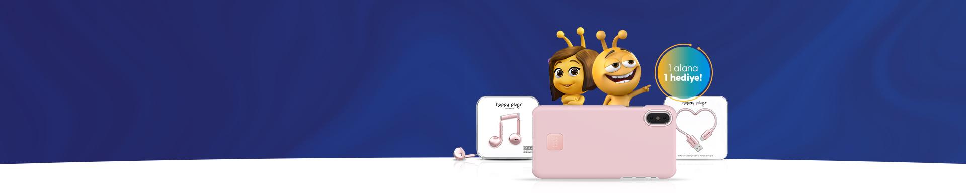 Şıklığı Teknoloji ile Tamamlayın turkcell.com.tr'ye özel Happy Plugs aksesuarlarında 1 alana 1 hediye!