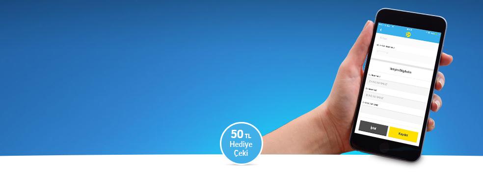 Hesabım Bilgi Güncelleme Kampanyası - Hesabım'dan tüm profil bilgilerini güncelleyen ilk 1.000 kişiye turkcell.com.tr'den 50 TL'lik hediye çeki.