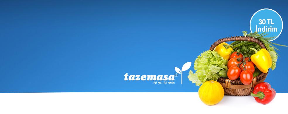 Tazemasa.com'dan Taze Taze 20 TL İndirim - Tazemasa.com'dan yapacağınız 100 TL ve üzeri alışverişlerinizde 20 TL indirim
