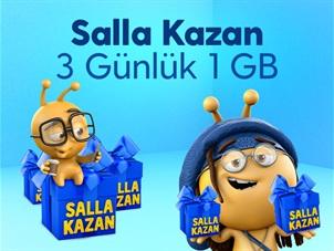 Salla Kazan 3 Günlük 1 GB