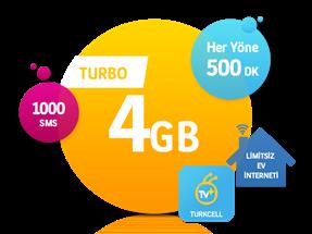 5'i 1 Yerde Turbo 4 GB Kampanyası