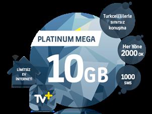 5'i 1 Yerde Platinum Mega 10 GB Kampanyası
