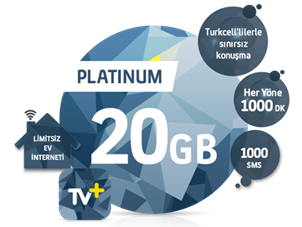 5'i 1 Yerde Platinum 20 GB Kampanyası