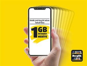 Dergilik'ten Hediye 1GB Kampanyası
