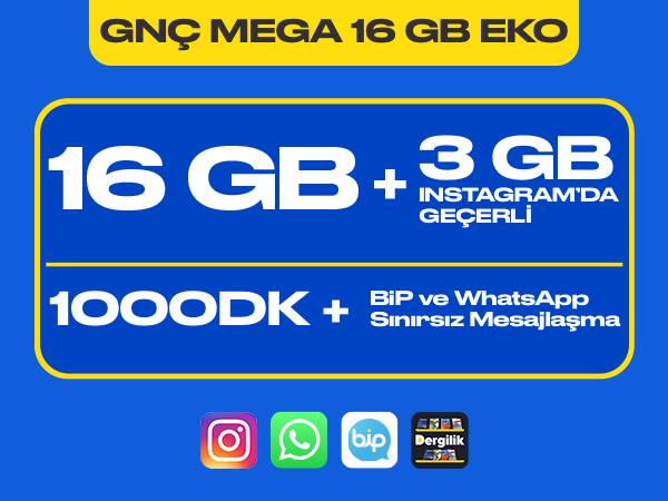GNÇ Mega 16 GB Eko Paketi