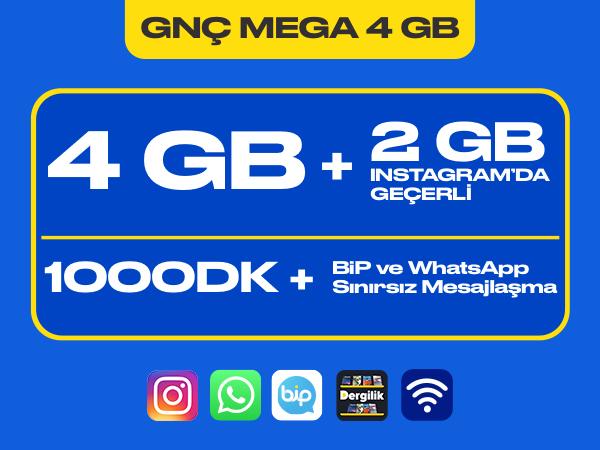 GNÇ Mega 4 GB Paketi