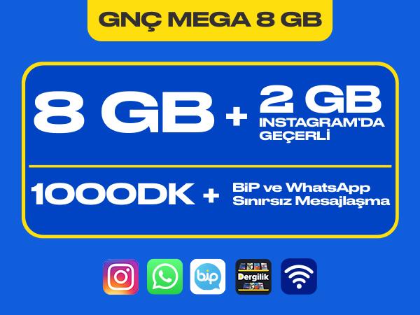 GNÇ Mega 8 GB Paketi