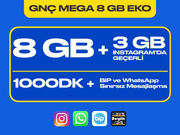 GNÇ Mega 8 GB Eko Paketi