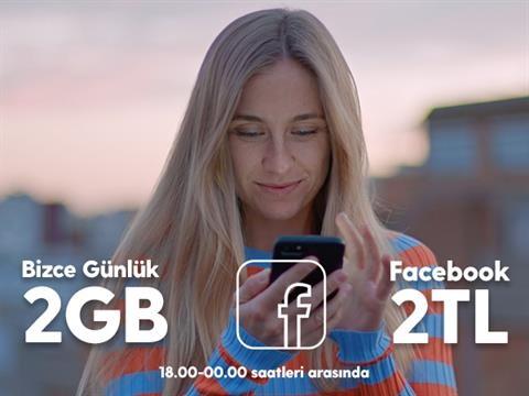 Bizce Günlük 2GB Facebook Paketi