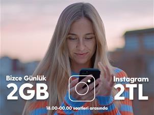 Bizce Günlük 2GB Instagram Paketi