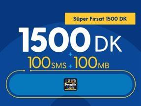 Süper Fırsat 1500DK Yıllık Abonelik Kampanyası