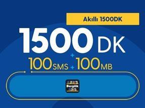Akıllı 1500DK Yıllık Abonelik Kampanyası