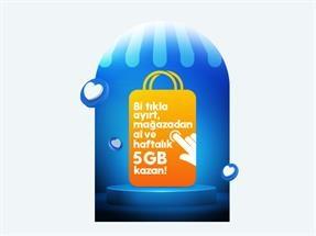 Bir Tıkla Mağazada İle Hemen Ayırt Mağazadan Al Haftalık 5 GB Hediye!