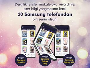Dergilik'te 10 Samsung Telefon Çekilişi