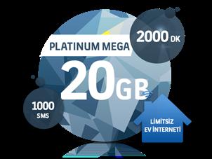 Dört Dörtlük Paketler Platinum Mega 20 GB