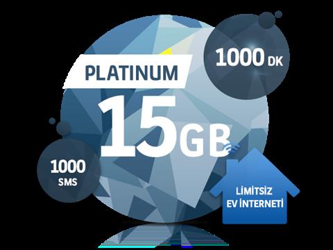 Dört Dörtlük Paketler Platinum 15 GB