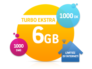 Dört Dörtlük Paketler Turbo Ekstra 6 GB