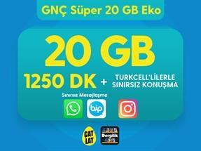 GNÇ Süper 20 GB Eko Kampanyası